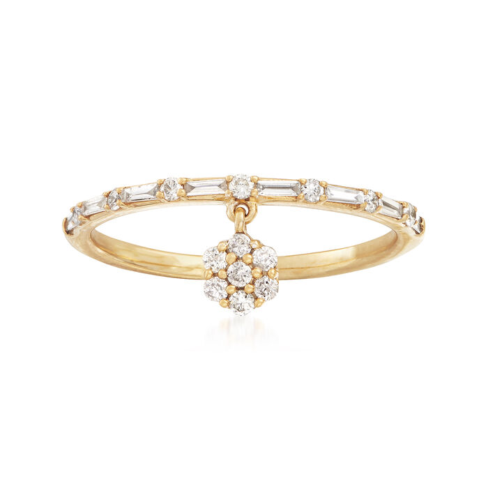 .25 ct. t.w. Diamond Charm Ring in 14kt Yellow Gold