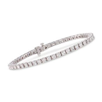 "5.00 ct. t.w. Square Diamond Tennis Bracelet in 14kt White Gold. 7"", , default"