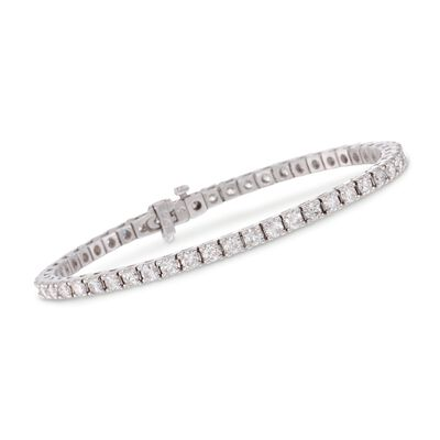 5.00 ct. t.w. Square Diamond Tennis Bracelet in 14kt White Gold, , default
