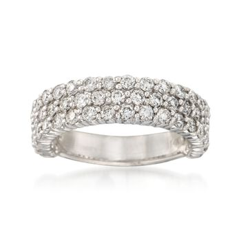 1.85 ct. t.w. Diamond Three-Row Ring in 14kt White Gold, , default