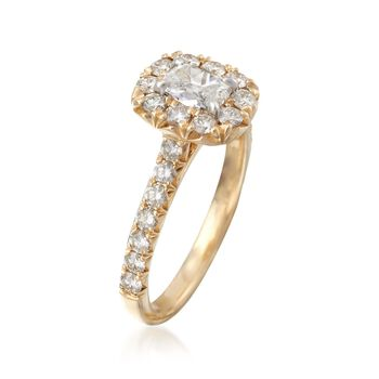 Henri Daussi 1.14 ct. t.w. Diamond Engagement Ring in 14kt Yellow Gold. Size 6.5, , default