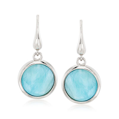 Larimar Drop Earrings in Sterling Silver