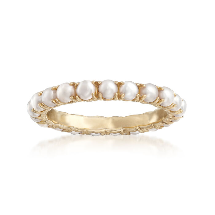 2.75-3mm Cultured Pearl Ring in 14kt Yellow Gold