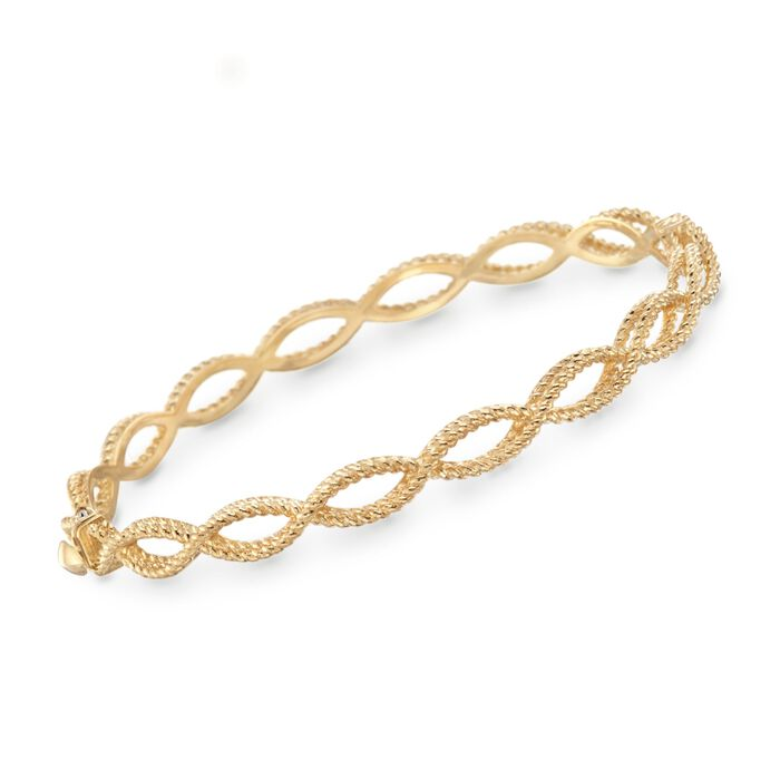"""Roberto Coin """"Barocco"""" 18kt Yellow Gold Braided Bracelet. 7"""", , default"""