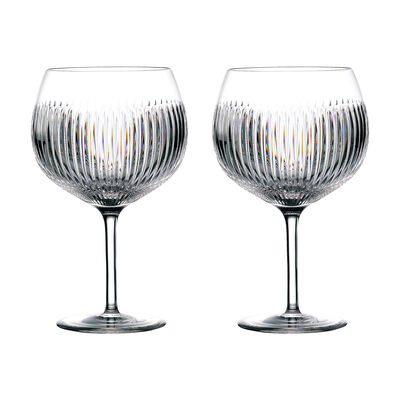 """Waterford Crystal """"Gin Journeys""""  Set of Two Aras Balloon Glasses"""