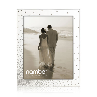"""Nambe """"Dazzle"""" Silver Plate Frame"""