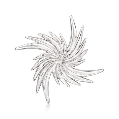 Italian Sterling Silver Pinwheel Pin , , default