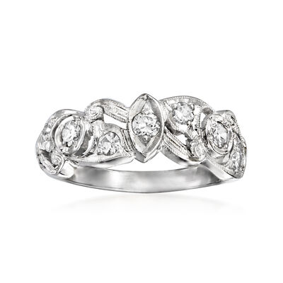 C. 1990 Vintage .45 ct. t.w. Diamond Fancy Ring in Platinum
