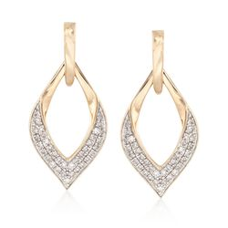 .25 ct. t.w. Diamond Open Marquise Drop Earrings in 14kt Yellow Gold, , default
