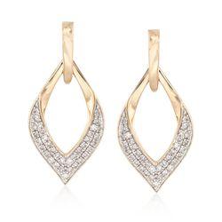 .25 ct. t.w. Diamond Open Marquise Drop Earrings in 14kt Yellow Gold, , default