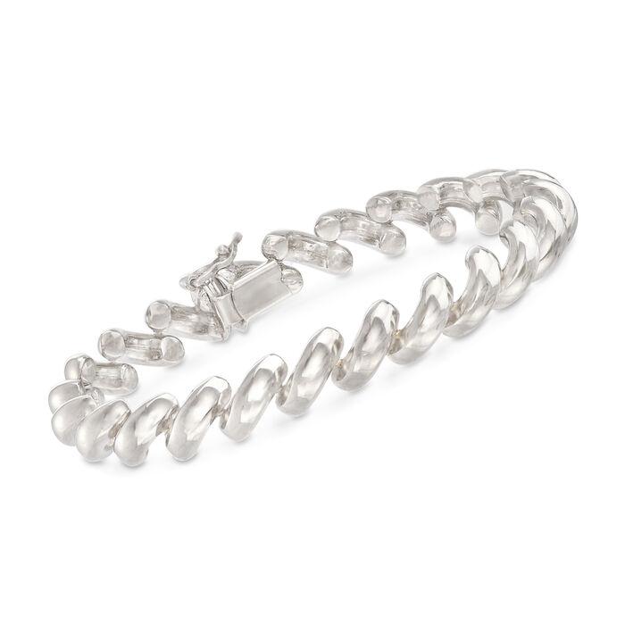 Italian Sterling Silver San Marco Link Bracelet, , default