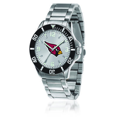 Men's 46mm NFL Arizona Cardinals Stainless Steel Key Watch, , default