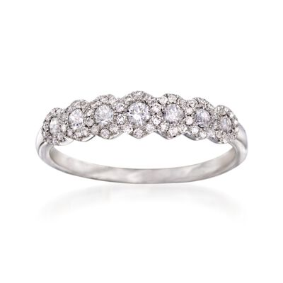 .65 ct. t.w. Diamond Wedding Ring in 18kt White Gold, , default