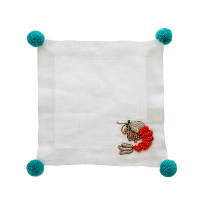 Joanna Buchanan Set of 4 Shrimp Linen Cocktail Napkins, , default