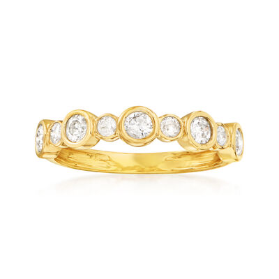 .50 ct. t.w. Bezel-Set Diamond Ring in 14kt Yellow Gold