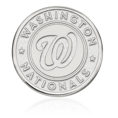 Sterling Silver MLB Washington Nationals Lapel Pin, , default