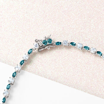 17.80 ct. t.w. Blue Topaz Tennis Necklace in Sterling Silver