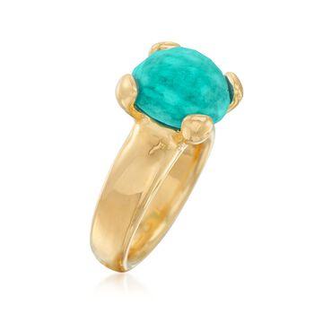 Italian Andiamo 14kt Yellow Gold Amazonite Ring, , default