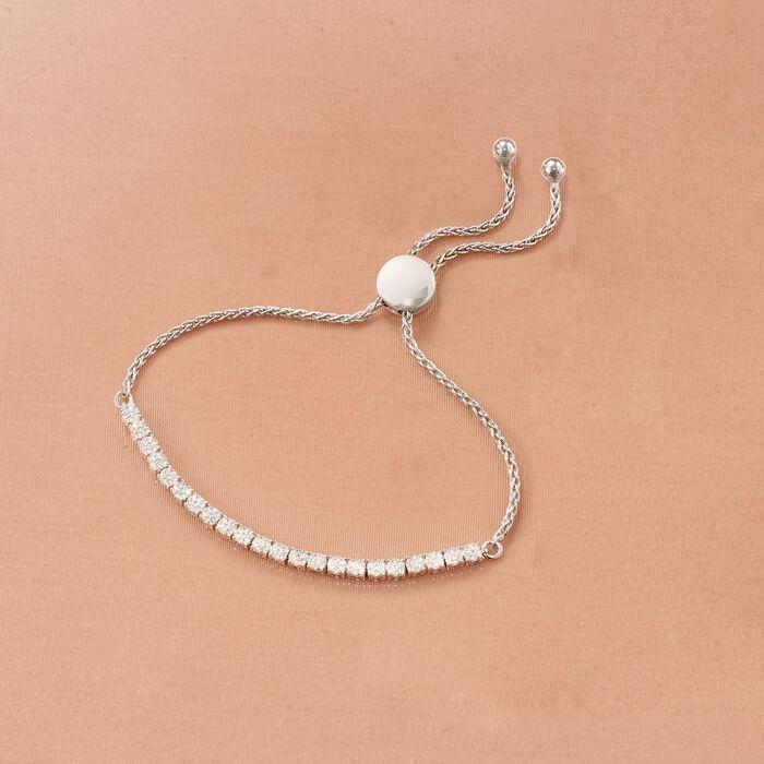 .50 ct. t.w. Diamond Cluster Bolo Bracelet in Sterling Silver