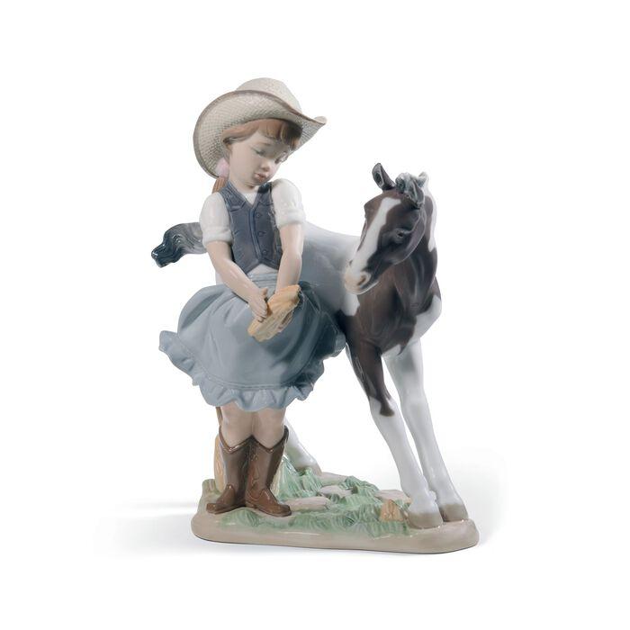 "Lladro ""Cowgirl"" Porcelain Figurine"