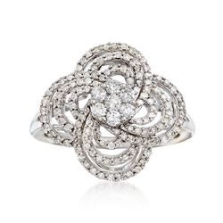 .75 ct. t.w. Diamond Flower Cluster Ring in 14kt White Gold , , default