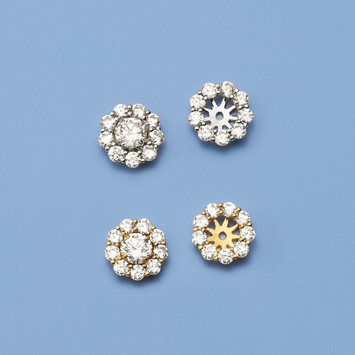 1.00 ct. t.w. CZ Earring Jackets in 14kt Yellow Gold