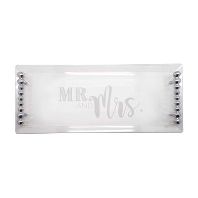 "Mariposa ""Mr. & Mrs."" Acrylic Serving Tray, , default"