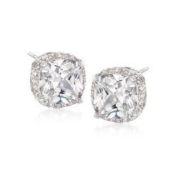8.50 ct. t.w. CZ Stud Earrings in Sterling Silver, , default