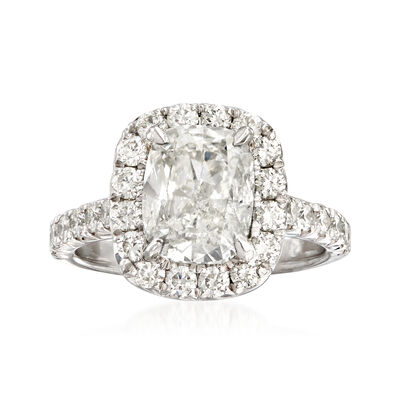 Majestic Collection 3.93 ct. t.w. Diamond Halo Engagement Ring in Platinum, , default
