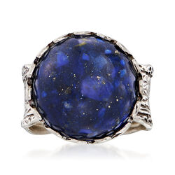 Lapis Ring in Sterling Silver, , default