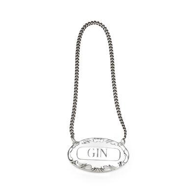 Empire Sterling Silver Gin Liquor Label, , default