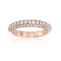 Henri Daussi 1.00 ct. t.w. Pink Diamond Band in 18kt Rose Gold, , default