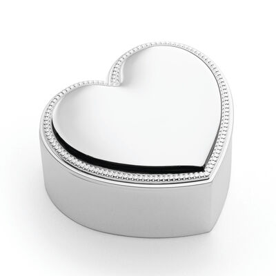"Reed & Barton ""Precious Heart"" Covered Trinket Box , , default"