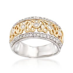 .49 ct. t.w. Diamond Swirl Ring in 14kt Two-Tone Gold, , default