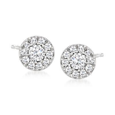 .12 ct. t.w. Diamond Cluster Stud Earrings in Platinum