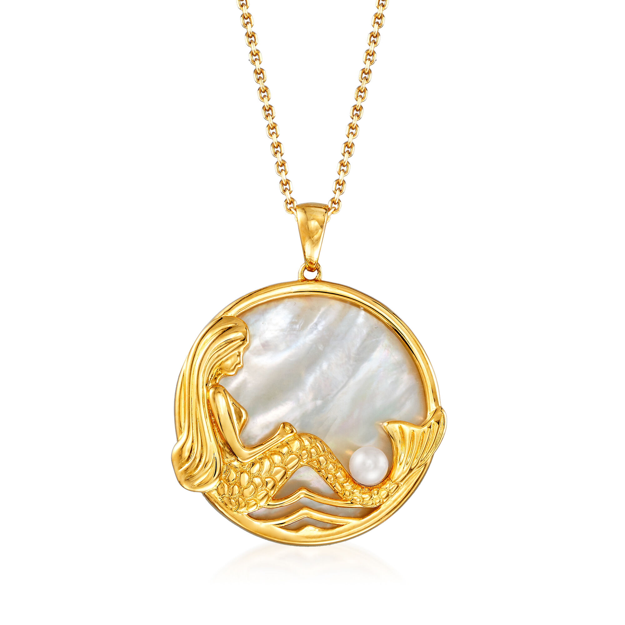 Mermaid Pearl Luminous Glow  in the Dark Pendant Necklace with Gift Bag