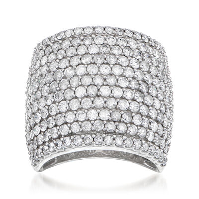 4.00 ct. t.w. Diamond Wide Ring in 14kt White Gold