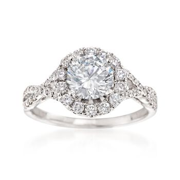 .54 ct. t.w. Diamond Woven Engagement Ring Setting in 14kt White Gold, , default