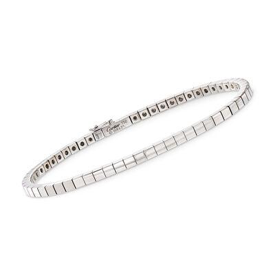 C. 1990 Vintage Cartier 18kt White Gold Chain Bracelet
