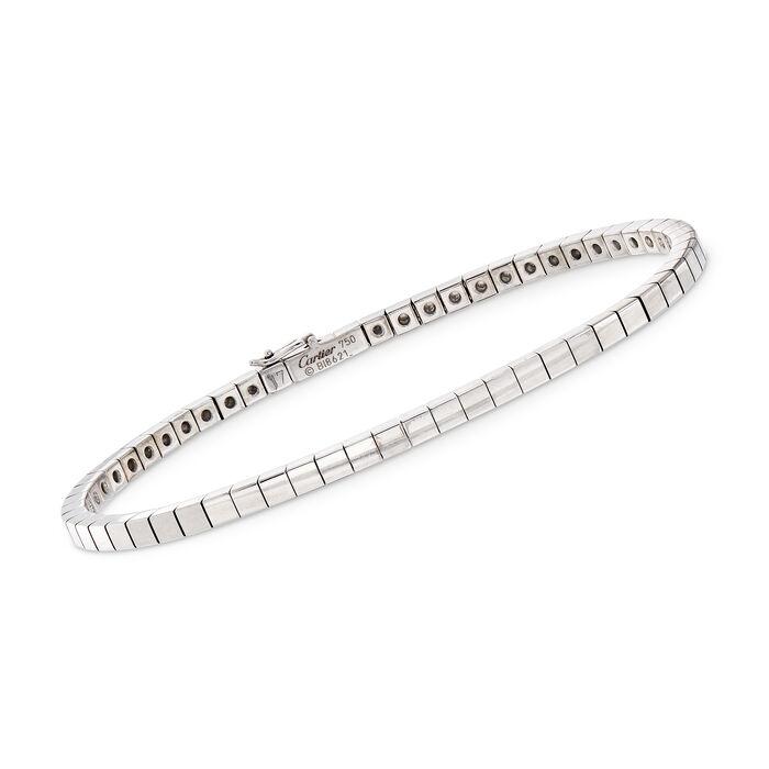 """C. 1990 Vintage Cartier 18kt White Gold Chain Bracelet. 7"""", , default"""