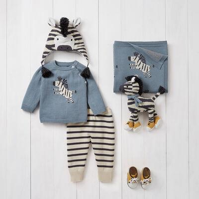 Elegant Baby Zebra 6-pc. Sweater and Pant Set, , default