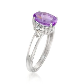 2.35 Carat Amethyst and Diamond Ring in 14kt White Gold