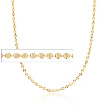 """Italian 14kt Yellow Gold Oval-Link Necklace. 18"""", , default"""