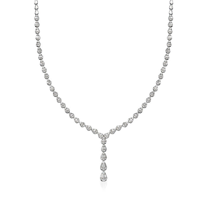 2.80 ct. t.w. Diamond Lariat Necklace in 14kt White Gold