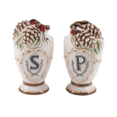 """Fitz and Floyd """"Forest Frost"""" Salt and Pepper Shaker, , default"""