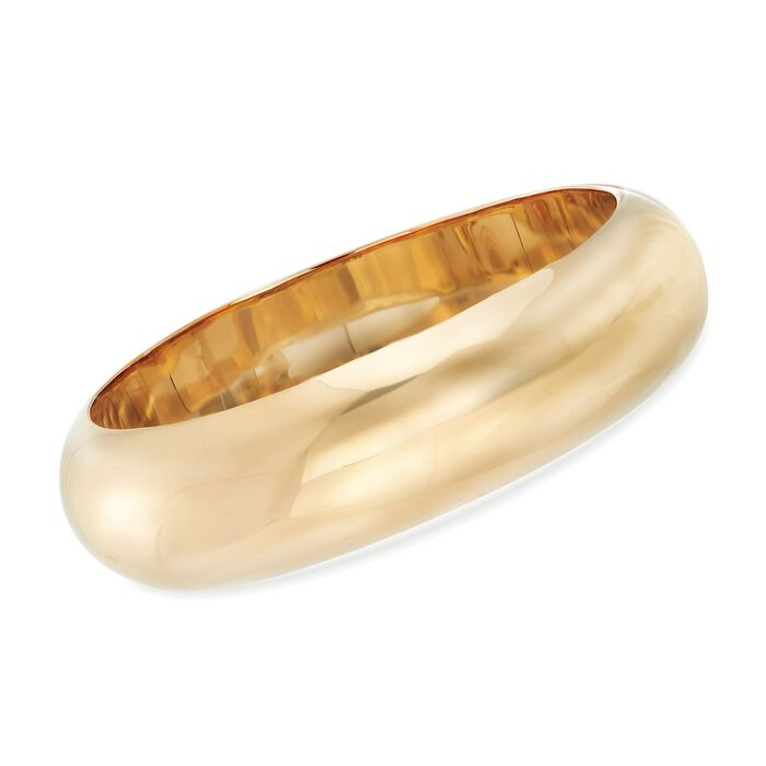 20mm 18kt Yellow Gold Over Sterling Silver Bangle Bracelet, , default