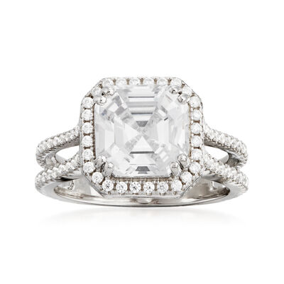 4.70 ct. t.w. CZ Ring in Sterling Silver