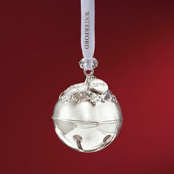 "Waterford 2018 Annual ""Silver Bell"" Silver Plate Ornament - 8th Edition, , default"