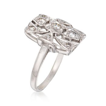 C. 1950 Vintage .33 ct. t.w. Diamond Ring in 14kt White Gold. Size 5.5, , default