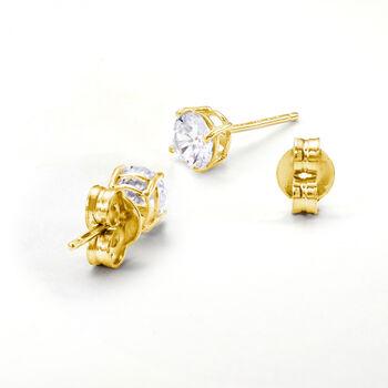 Italian 14kt Yellow Gold Medium 5mm Earring Backings, , default
